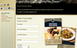 Free California Olive Recipe Book
