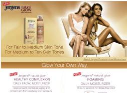 Free Sample of Jergens Natural Glow