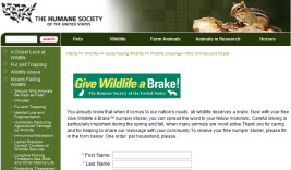 Free Give Wildlife a Brake Bumper Sticker