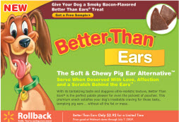 Free Sample Of Dog Treat Better Than Ears