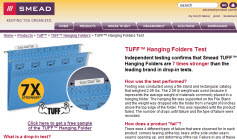 Free Sample of TUFF™ Hanging Folder with Easy Slide Tab