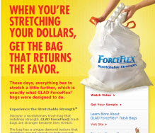 Free GLAD® ForceFlex® Kitchen Garbage Bags