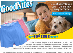 Free Sample of Goodnites Sleep Boxers