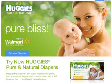 Free Huggies® Pure & Natural Diapers Sample