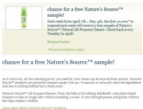 Free Nature's Source Sample