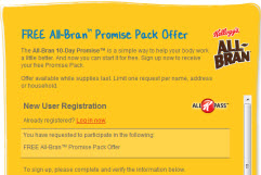 Free Kelloggs All-Bran Promise Pack Sample