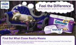 Free Sample of Cottonelle Ultra Toilet Paper and Wipes