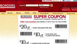 Free Small Coffee Coupon At Borders