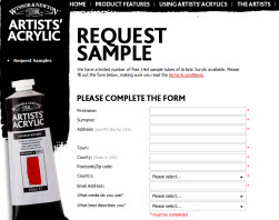 Free 14ml Sample Tubes of Artists' Acrylic