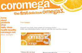 Free Coromega Omega3 Fish Oil Sample