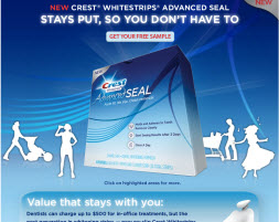 Free Sample of Crest Whitening Strips
