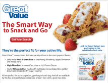 Free Sample of Great Value 90 Calorie Strawberry Cereal Bar