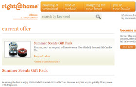 Free Glade Scented Oil Candle Tin Sample