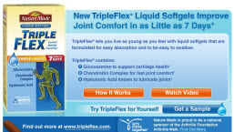 Free Sample of New Nature Made TripleFlex Liquid Softgels
