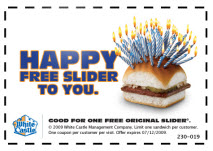 Free White Castle Slider Coupon