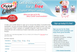 Free Yoplait Whips Yogurt Coupon
