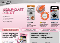 Free Energizer audioPRO Hearing Aid Battery Sample