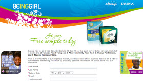 Free BeingGirl Sample Kit