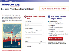 Free MoveOn Energy Sticker