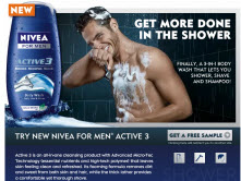 Free Sample of Nivea for Men Active 3