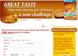 Free Sample Honey Nut Cheerios and a $1 Coupon