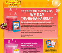 Free Sample of EmergenC Vitamin Fizzy Drink Mix