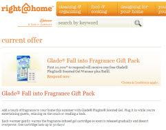 Free Glade® Fall into Fragrance Gift Pack First 10,000