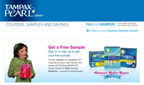 Free Tampax Pearl and Tampax Compak Pearl Samples