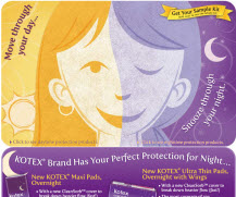 Free Sample of Kotex Products