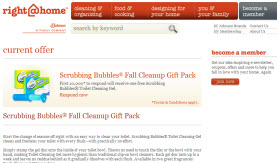 Free Scrubbing Bubbles® Fall Cleanup Gift Pack