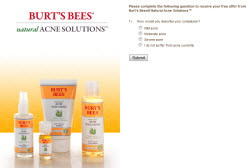 Free Burts Bees Natural Acne Solutions Sample