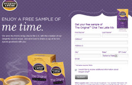 Free Original Chai Tea Latte Mix Sample