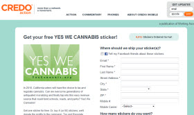 Free YES WE CANNABIS Sticker