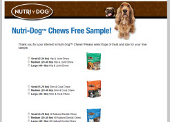 Free Nutri-Dog Chews Sample