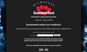 Free Tickets to 2010 Summerfest Wisonsin
