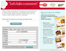 Free Betty Crocker 2010 Calendar