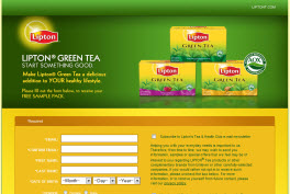 Free Lipton® Green Tea Sample Pack