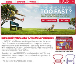 Free HUGGIES Little Movers Diapers Sample