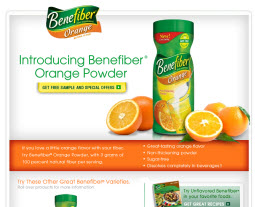 Free Sample of Benefiber Orange Sticks