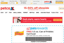 Free 5.5 oz Friskies Cat Food at Petco Coupon