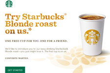 Free Starbucks Blonde Roast On Facebook