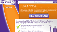 Free Sample of Poligrip® Seal & Protect Denture Adhesives