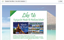 Free Wander The World 2013 Calendar