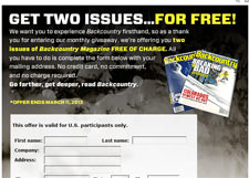 Free Backcountry Magazine Subscription