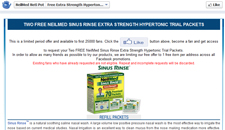 Free Neilmed Sinus Rinse Extra Strength Hypertonic Trial Packets