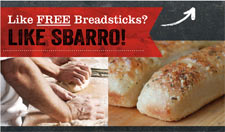 Free Sbarro Breadsticks Coupon