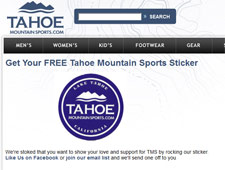 Free Tahoe Mountain Sports Sticker