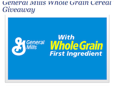 General Mills Whole Grain Cereal Giveaway March 7th 3PM EST