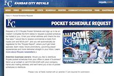 Free Kansas City Royals Pocket Schedule Book