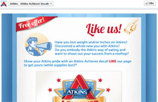 Free Atkins Achiever Decal